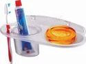 Plastic Tumbler Holder With Soap Dish