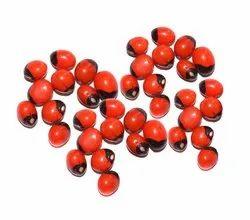 Kesar Zems Abrus Seed Chirmi Beads (Red, White, Black) - Set of 21