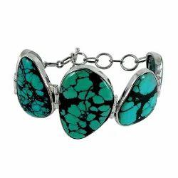 Turquoise 925 Sterling Silver Bracelet
