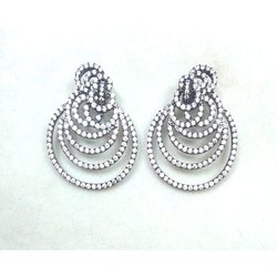 925 Sterling Silver Cubic Zirconia Earring Jewelry