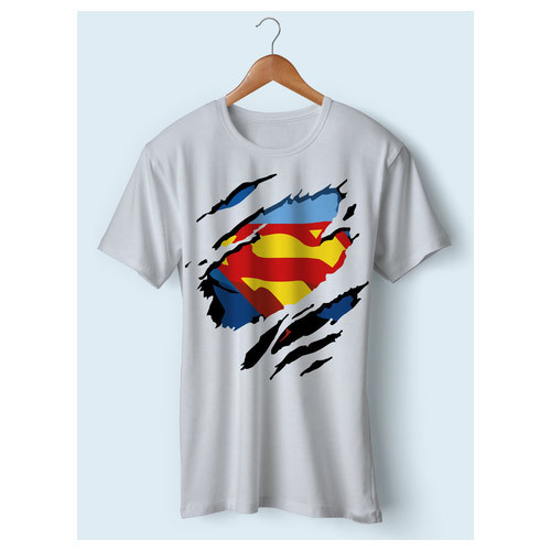c0a6a008cfc Go-Groomy Party Wear Men White Superman T-Shirt