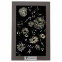 Black/golden Aluminium Cracker Wall Art, Size: 345x280 Mm