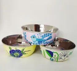 Hand Painted Enamelware Bowl