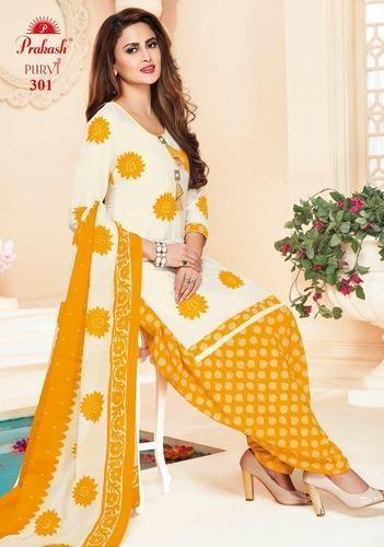 82bf344337 PURE COTTON PRINT Prakash Pure Cotton Printed Churidar Dress Materials