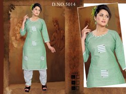 Cotton Kurti with Salwar Set