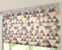 36 x 84 inch Geometric Grey Windows and Doors Printed Roller Blinds