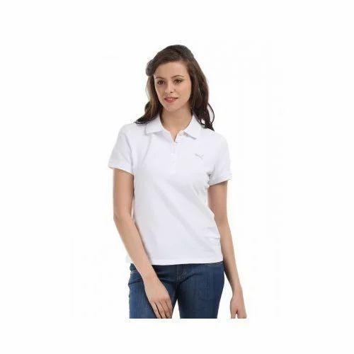 White Plain Girls Collar T Shirt Rs 500 Piece Giftzo Gifting Id 20405287848