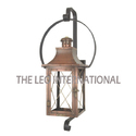 copper antique finish wall mounted lantern