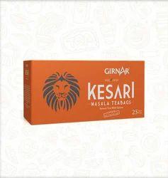 Girnar Black Tea Bags Kesari Masala, Packaging Type: Packet