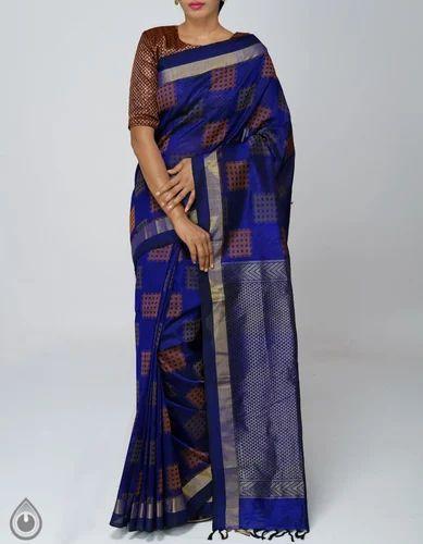 a69937b6d1cc7e Festive Wear Real Zari Gold Pure Handloom Silk Cotton Pattu Saree, 6.20 MTR  (Inclusive