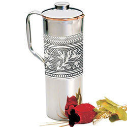 Pure Copper Pitcher Ayurveda Copper Jug Pitcher and Tumbler With Lid Copper Pitcher with Glass