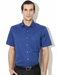 Blue Formal Men's Shirts Stranded Clothes