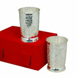 Corporate Gift Silver Plated Glass Set