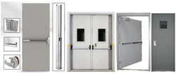 Fire Door With Panic Bar