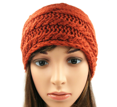 Cable Slouchy Beanie Brick Red 08bfe1bb7d5