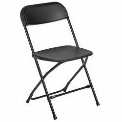 Mild Steel Black Folding Chair