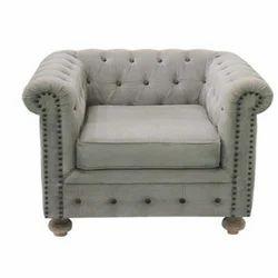 Fabric Single Seater Sofa, Leather Furniture