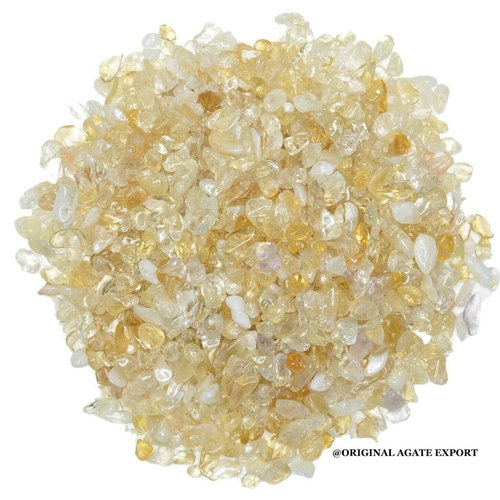Gemstone Natural Citrine Agate Chips for Decoration
