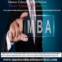 Dissertation Writing Services For MBA