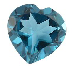 Heart Shape Glass Topaz Gemstone