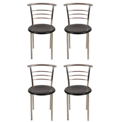 Sumeet Furniture Polished Steel Chair