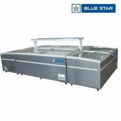 Grey Blue Star Island Freezer, Capacity: 500, -22