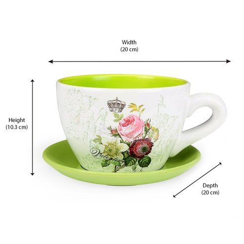 Mini Garden Cup Saucer Planter गमल प ल टर Duqaa