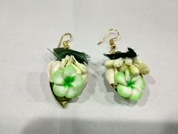 Handmade Green Cute Floral Earnings