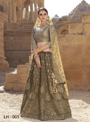 Jodha Present LH 2-LH 7 Wedding Stylish Silk Designer Lehenga Collection