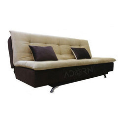 Adorn India Aspen Sofa 3 Seater Sofa Cumbed ( Brown & Beige)