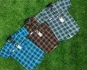 Cotton Checks Kids Check Shirts, Packaging Type: Roll