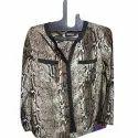 Full Sleeve Georgette Ladies Printed Shirt