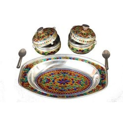 Handicrafts Kansar Set Meena Work