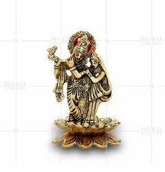 Gold Plated Radha Krishna Statue Gift