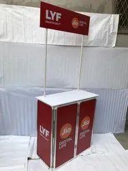 Rectangle PVC Promo Table
