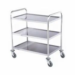 ACH Stainless Steel Service Trolley, Capacity: 0-100kg, 20X30