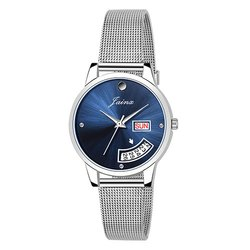 Jainx Day and Date Functional Blue Dial Analog Watch for Women & Girls JW639