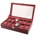 12  Red Wine Watch Case
