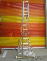 Aluminum Tower Wheeled Ladder