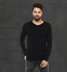 Solid Black Flatknit MSK-4167-E T Shirt