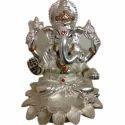 Om Sai Silver Ganesha Idol