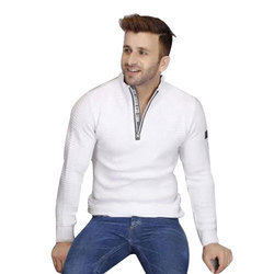 Mens White Sweater