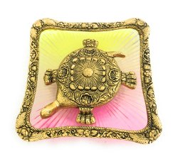 Gold Plated Feng Shui Tortoise Plate Big Gold