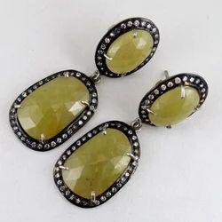 Yellow Sapphire Earring