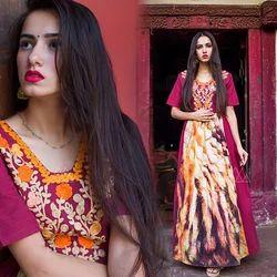Digital Printed Long Dress