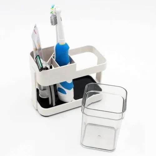 SS Stainless Steel Bathroom Toothbrush Toothpaste Holder Razor Stand Househol