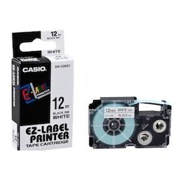 CASIO XR-12WE1 12mm Label Printer Tape Black On White