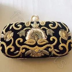 Hand Embroidery Zardosi Purse