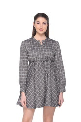 Women/Girls Micro Jacquard Wrap Dress
