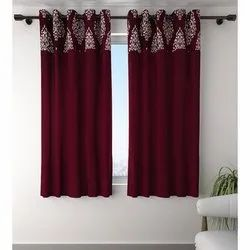 Cotton Eyelet Designer Window Curtains, Length: 3-4 Feet